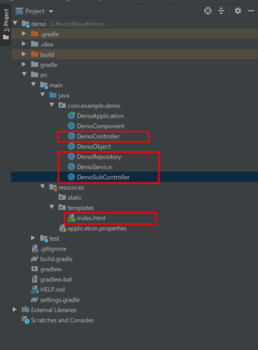Componentアノテーション以外のDIを利用した場合のプログラムの構成