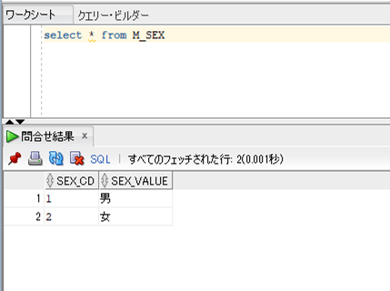 m_sex_テーブルデータ