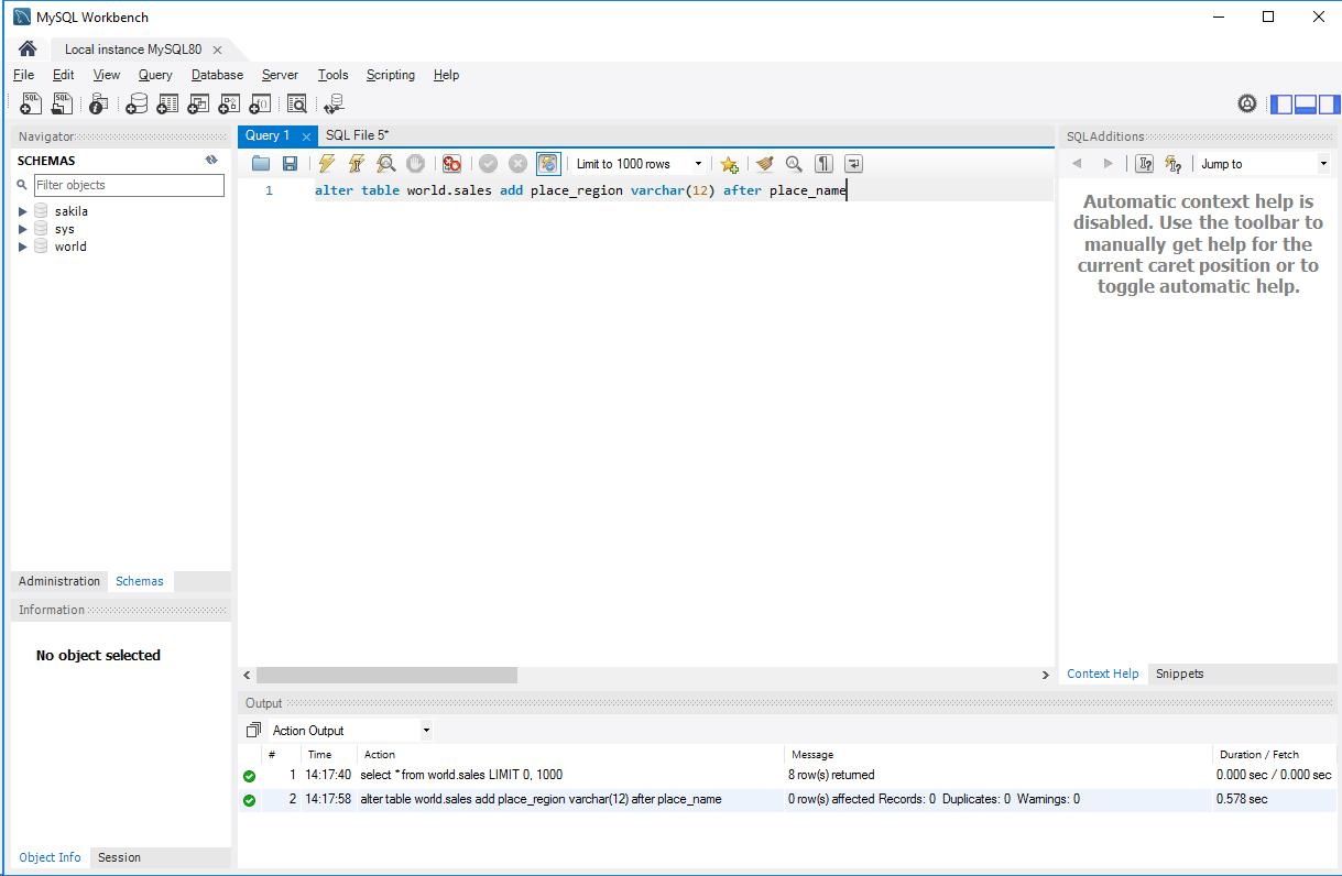 MySQL_カラム追加実行