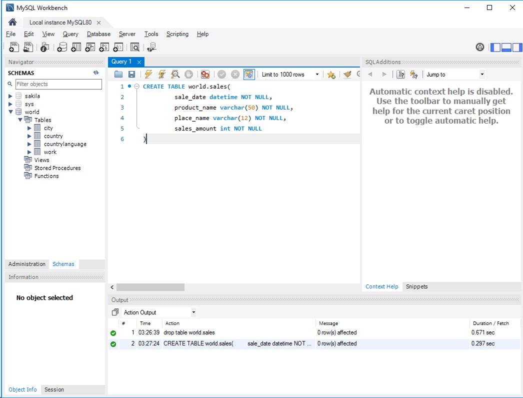 MySQL_createTable実行