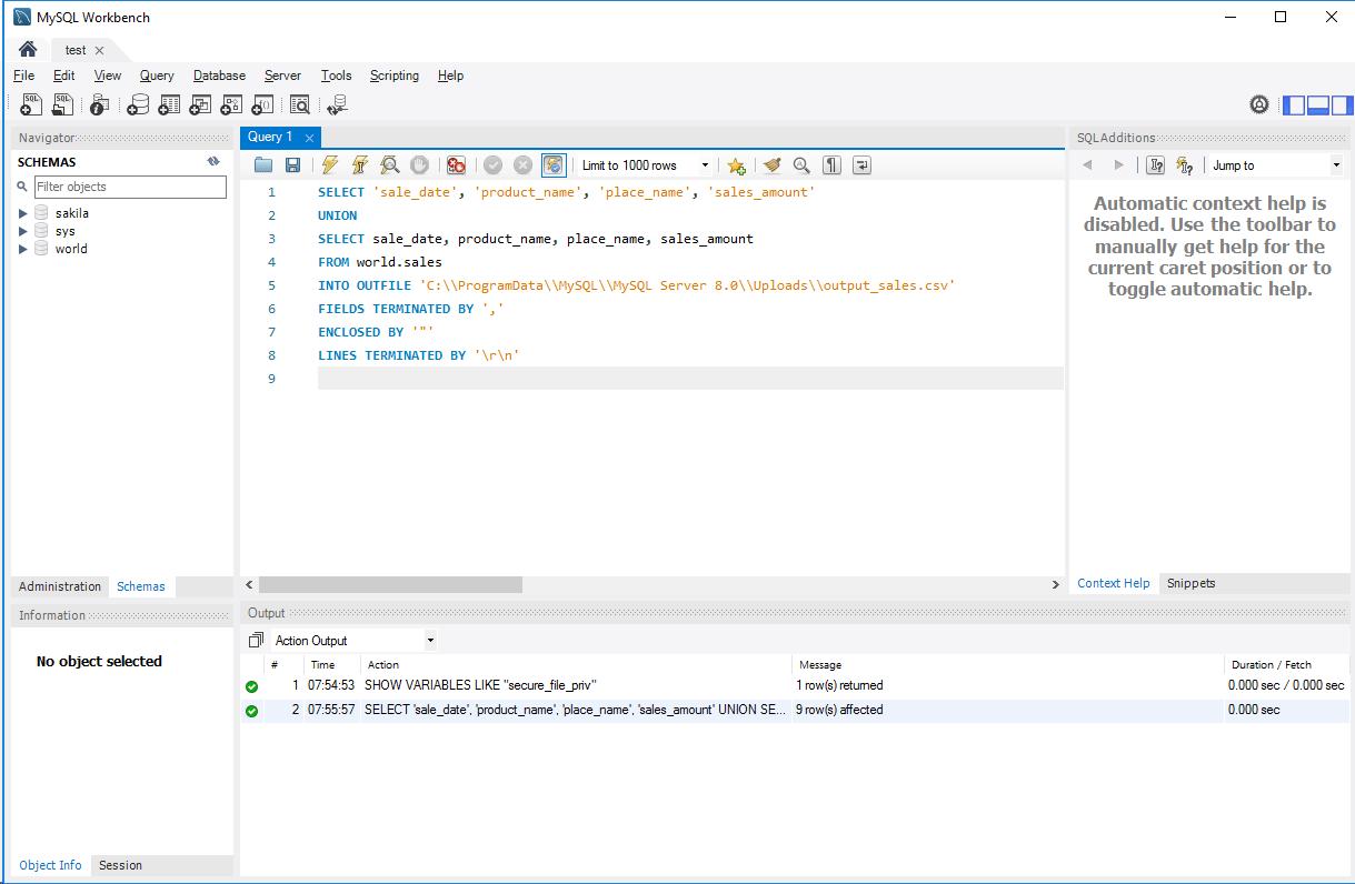 MySQL_CSV出力