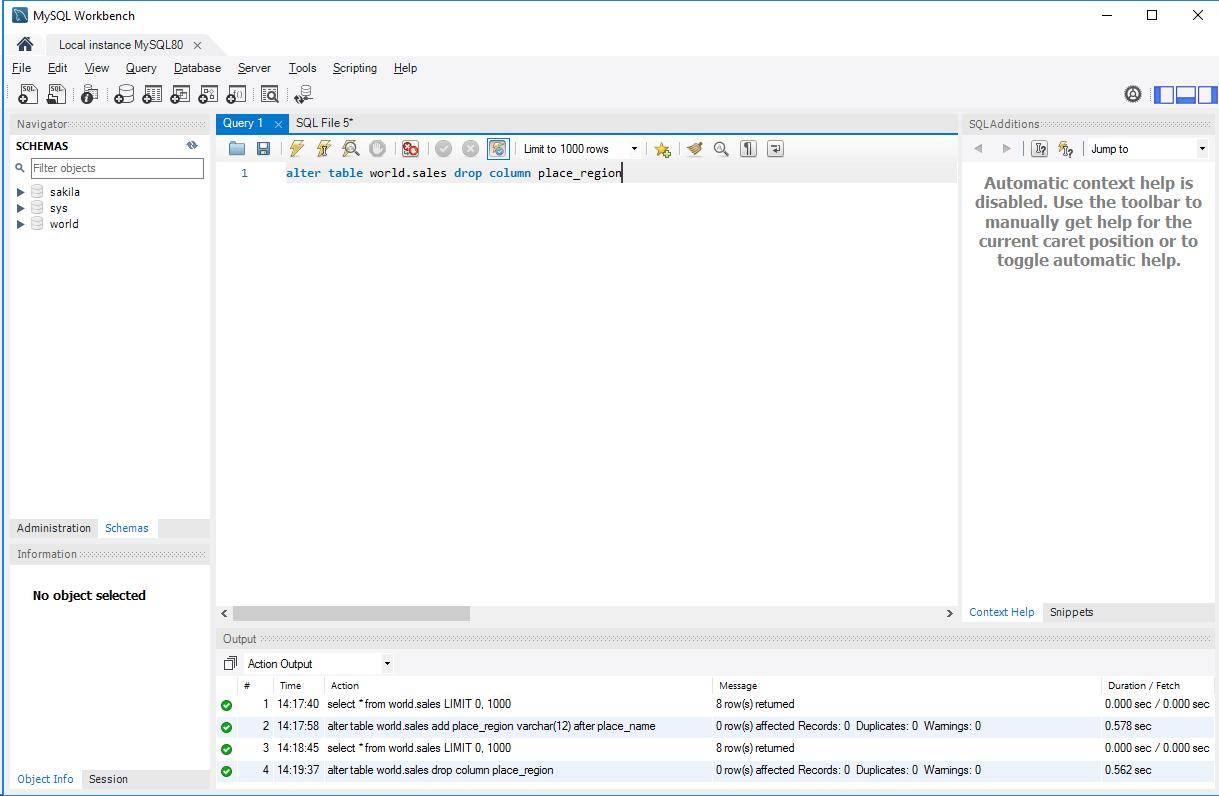 MySQL_カラム削除