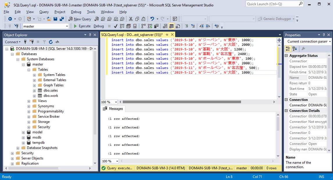 SQLServer_insertData実行