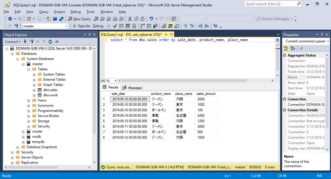 SQLServer_selectData実行