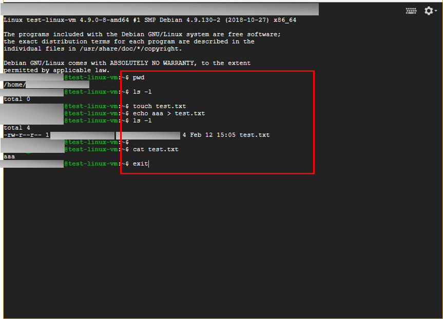 LinuxVMマシン作成6