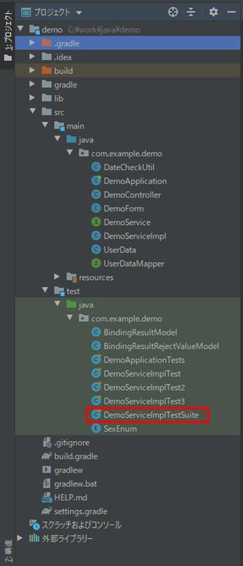 サンプルプログラムの構成