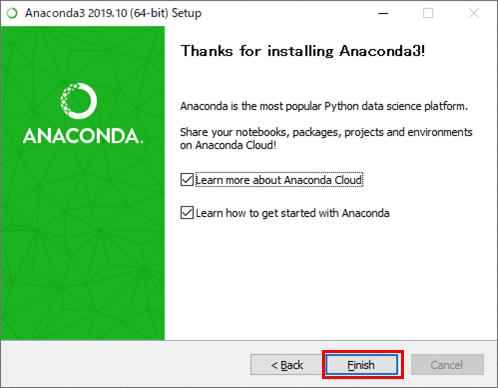 Anacondaのインストール_10