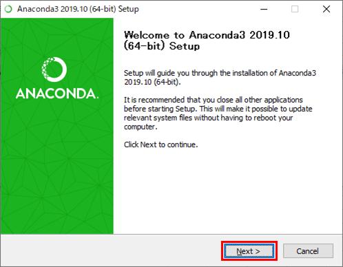 Anacondaのインストール_3