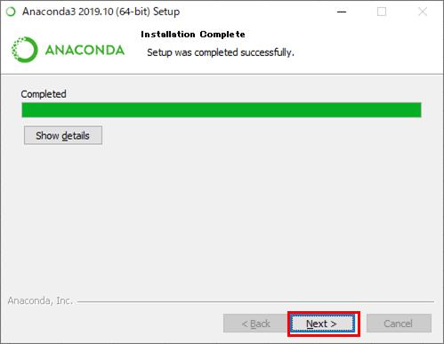 Anacondaのインストール_8
