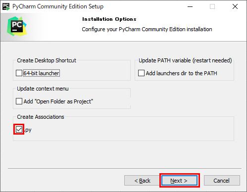 PyCharmのインストール_5
