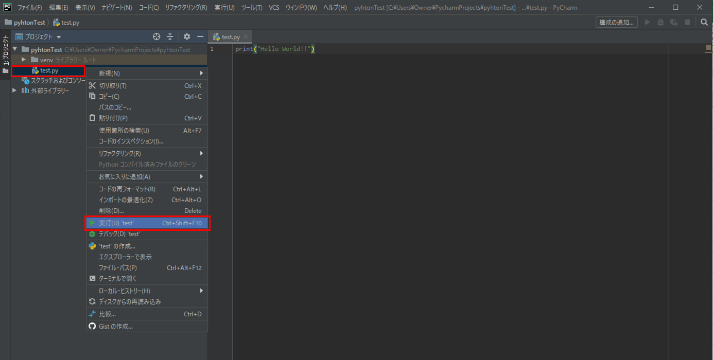Pythonプログラムの作成・実行_6