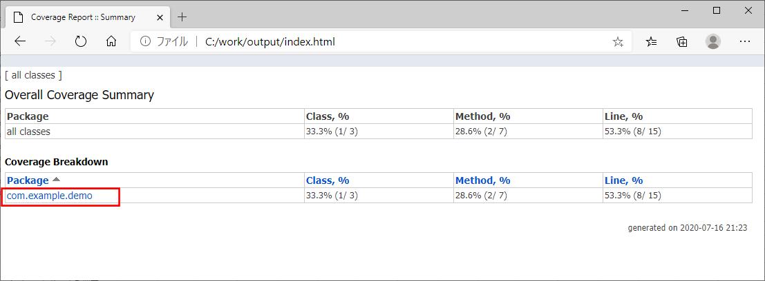 カバレッジレポートの作成_4
